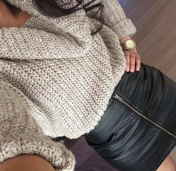 sweater taupe top