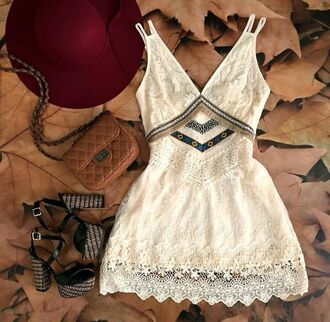 dress boho boho chic bohemian dress bohemian festival lace lace dress white lace dress white dress embroidered embroidered dress