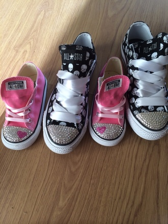 sparkle shoes converse heartshaped hearts swarvoski kids fashion