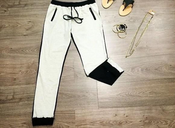 pants white harem pants