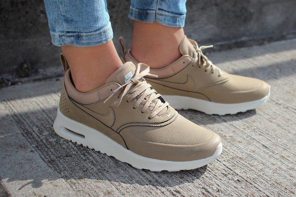 nike air max thea trainers in khaki