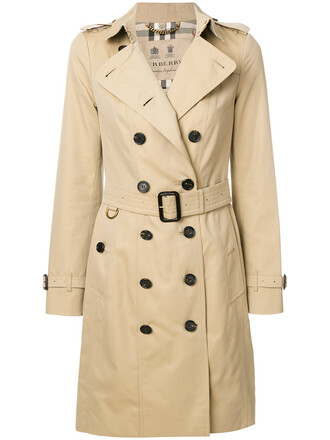 double breasted women classic nude cotton coat