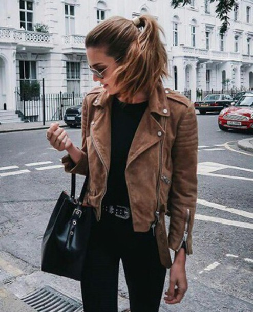 jacket leather brown leather jacket