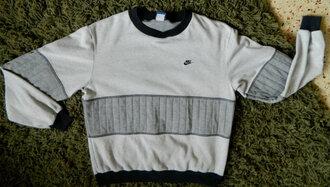 sweater gray grey crewneck vintage sweatshirt vintage crewneck nike pullover vintage pullover sweatshirt nike vintage nike crewneck nike sweatshirt