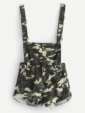 romper,girly,camouflage,overalls,short overalls,denim overalls,suspenders,button up