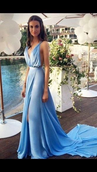 dress baby blue baby blue dress prom dress prom gown