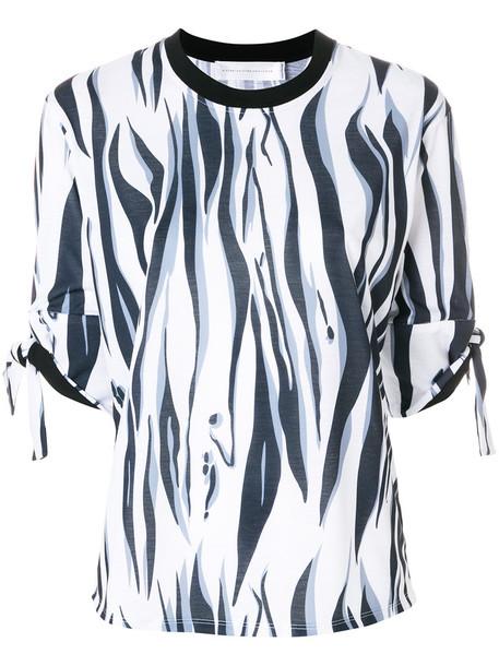 blouse women tiger tiger print cotton print blue top