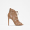 Wraparound leather sandal - shoes - woman - collection aw15 | zara united states