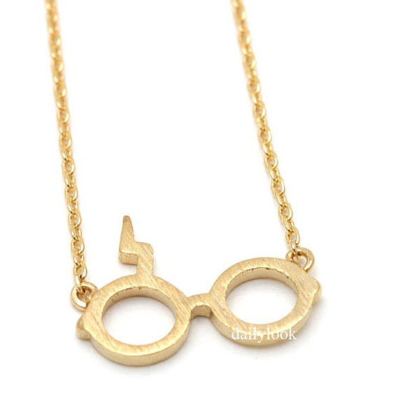jewels gold necklace necklace harrypotter harry potter necklace harry potter glasses unique necklace cool necklace man necklace woman necklace harry potter inspired