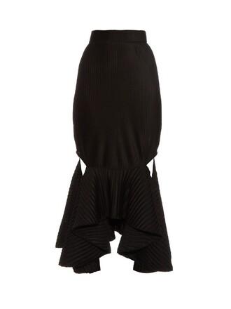 skirt pleated black