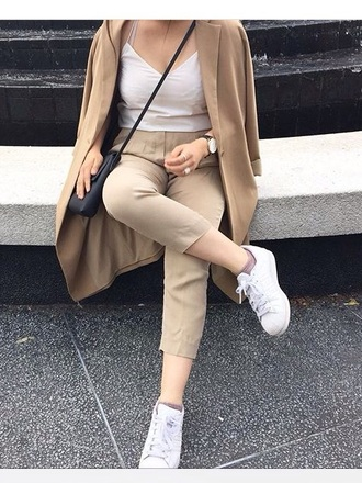 coat style hype brown brown coat nude kardashians trench coat
