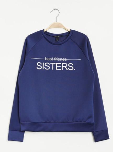 jumper clothes jumpsuit sweather blue best friend shirts sisters