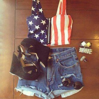 top usa style shorts