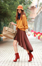 bag,shoes,skirt,sweater