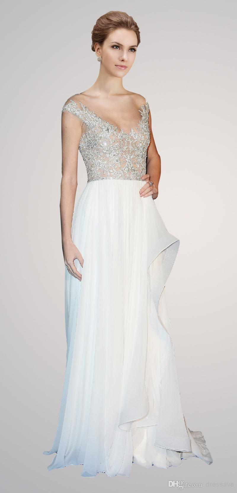 Discount 2014 talor swift evening dresses chiffon cap sleeve crystal beaded glitz illusion floor length chiffon party sheer celebrity dresses cps037 online with $110.49/piece