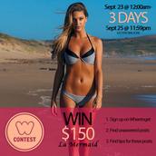 swimwear,la mermaid,summer giveaway,swimwear two piece,gift card,summer,beach,gift ideas,contest