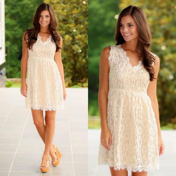 lace dress creme colored