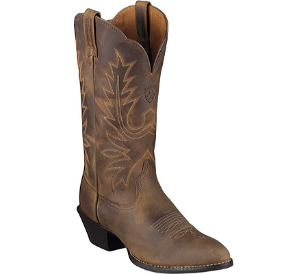 Ariat Heritage Western R Toe - Distressed Brown Full Grain Leather - Free Shipping & Return Shipping - Shoebuy.com