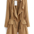 Khaki Long Sleeve Epaulet Drawstring Trench Coat - Sheinside.com Mobile Site