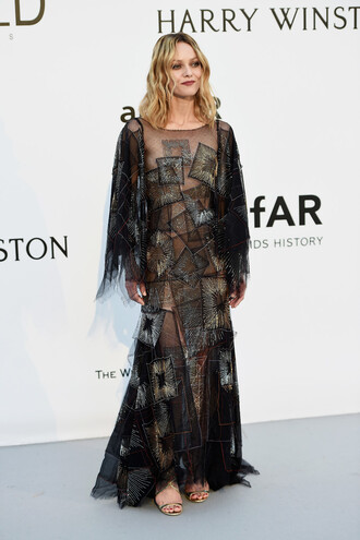 dress gown prom dress vanessa paradis see through dress see through sandals