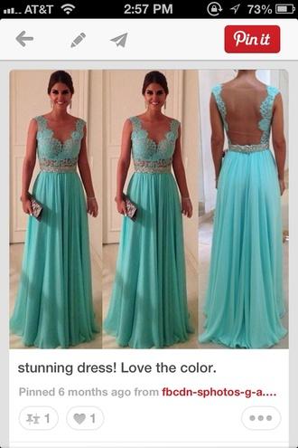 dress lace dress teal backless dress backless evening dress bridesmaid