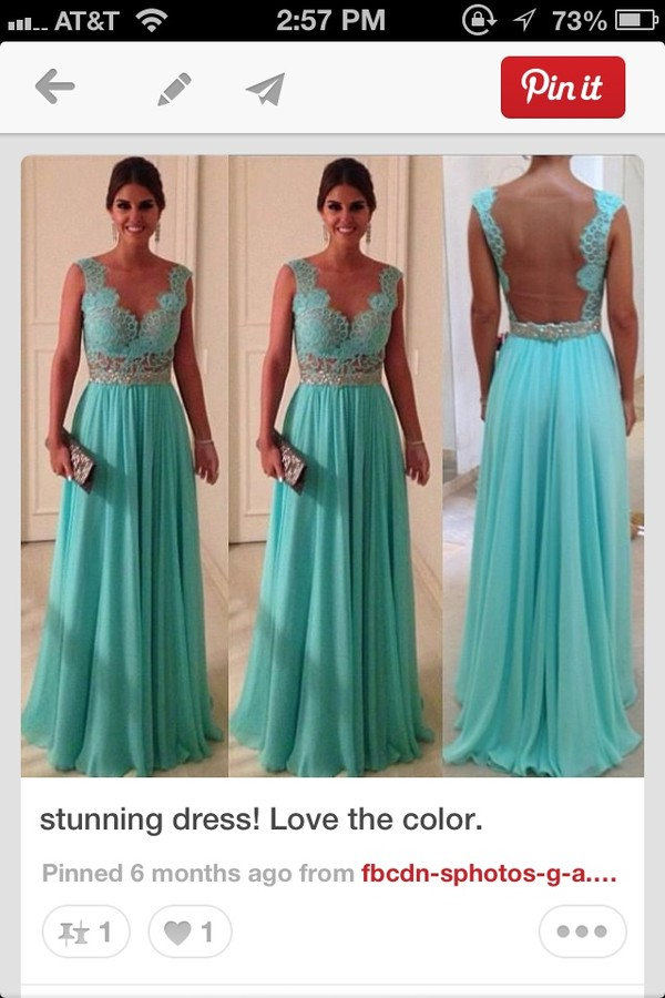 dress teal lace dress backless dress open back evening dress bridesmaid