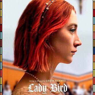 hair accessory lady bird headband red hair hair saoirse ronan