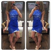 dress,lace,lace dress,crochet dress,mini dress,party dress,evening dress,evening outfits,cute,bodycon dress,bodycon,blue,sexy dress,sexy