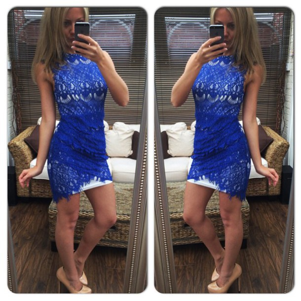 dress lace lace dress crochet dress crochet dress mini dress party dress evening dress evening outfits cute bodycon dress bodycon blue sexy dress sexy