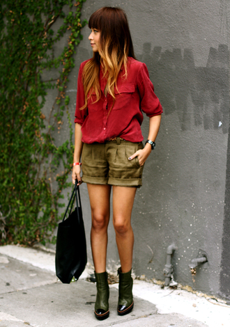 sincerely jules blouse shorts shoes bag jewels