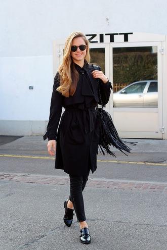bonsoir cherie blogger bag coat sunglasses shoes