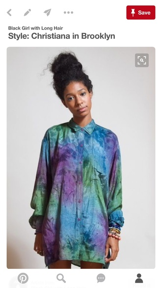 shirt purple green blue button up oversized 80s style 90s style watercolor pinterest multicolor