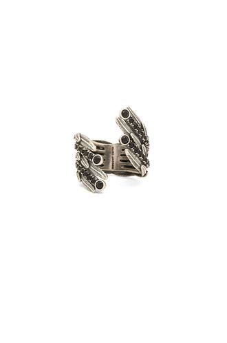dark statement ring statement ring metallic silver jewels
