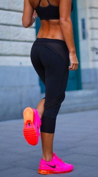 sportswear shoes nike air air max workout shoes pink and orange pants workout fitness clothes workout leggings workout pants tights black lululemon leggings leggings nike capris