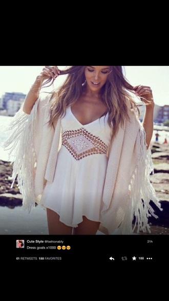 dress white white dress short dress style
