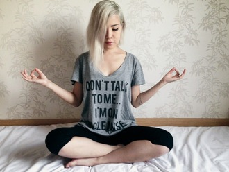 feral creature blogger t-shirt leggings sportswear graphic tee grey t-shirt