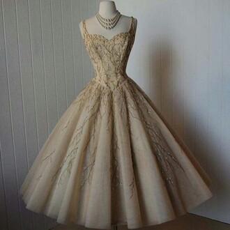 dress nude dress statement necklace ball gown dress princess dress