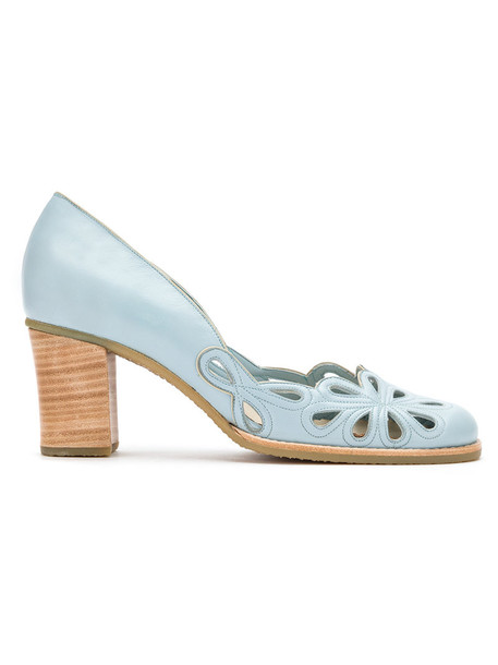 Sarah Chofakian women pumps blue shoes