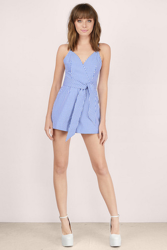 romper blue romper striped romper stripes striped outfit summer summer outfits