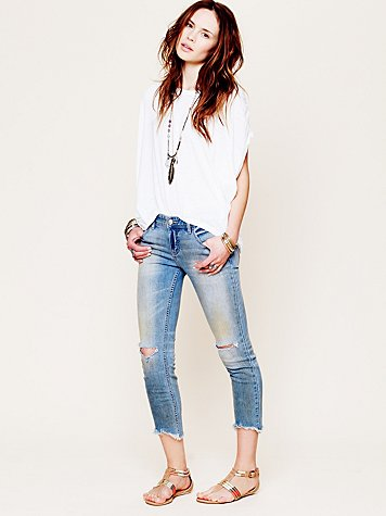 Free People  Destroyed Ankle Skinny at Free People Clothing Boutique