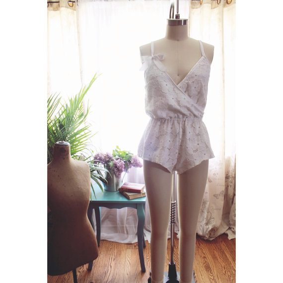 Evelyn Wrap Front Romper Teddy Sewing Pattern Ballet Style Lingerie PDF Instant Download Tutorial