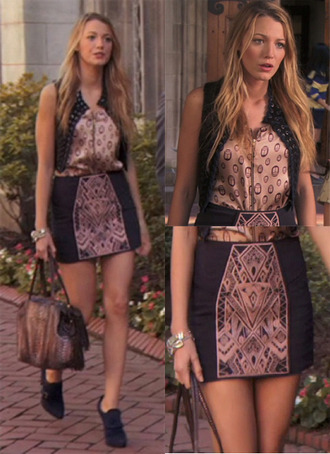 bag gossip girl jacket skirt dress