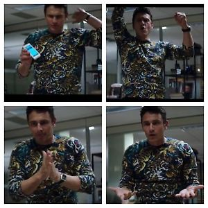 James franco the interview tiger sweater james franco wears