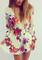 Sleeve floral romper