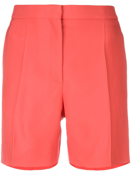 Rochas shorts pleated women cotton red