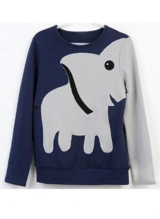 Popular clothing — elephant pattern long