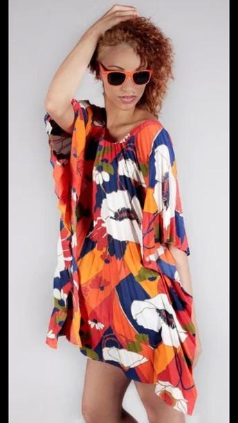 dress floral tunic dress mini dress summer abstract print swimwear kimono modern vintage fashion runway