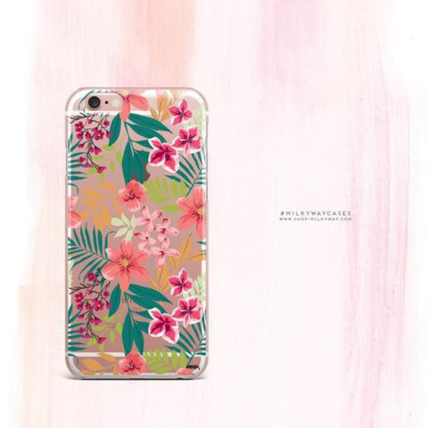 Milkyway Cases CLEAR TPU CASE COVER - SUMMER BLOSSOM