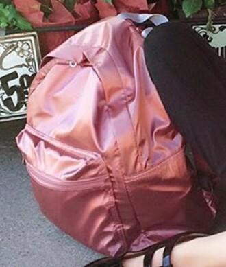 bag pink metallic backpack