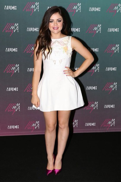 lucy hale mini dress flare white dress dress